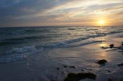 Honeymoon Island State Park, Florida. Beautiful sunset at Honeymoon Island State Park, Florida royalty free stock photos