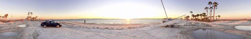 Honeymoon Island State Park at sunset, panoramic view - Florida, Royalty Free Stock Photos