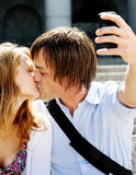 Honeymoon kiss Stock Images