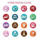 Honeymoon long shadow icons Royalty Free Stock Photography
