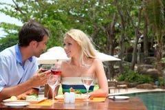 Honeymoon lunch time Stock Photo