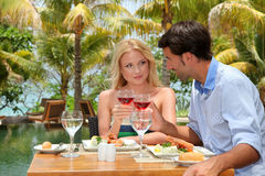 Honeymoon lunch time Stock Photography