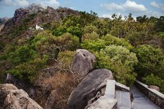 Honeymoon Point at Mount Abu, Sirohi District, Rajasthan, India. Tres on a hill at Honeymoon Point,Mount Abu, Sirohi District, Rajasthan, India Royalty Free Stock Photo