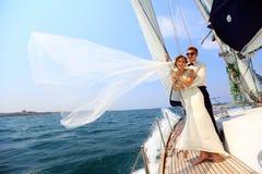 Honeymoon sailing Royalty Free Stock Photos