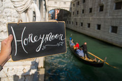 Honeymoon sign Royalty Free Stock Images