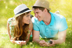 Honeymoon smile Royalty Free Stock Photo
