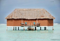 Honeymoon Suite. Shot of a honeymoon suite in the middle of the Indian Ocean Royalty Free Stock Photography