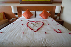 Honeymoon Suite. In fancy 5 stars hotel Royalty Free Stock Images