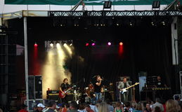 Honeymoon Suite Rocks. The Park in Dorchester Ontario for fundraising event Royalty Free Stock Image