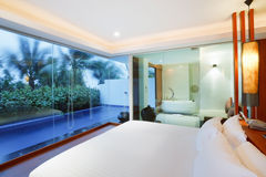 Honeymoon sweet luxury room Royalty Free Stock Images