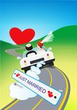 Honeymoon Trip Illustration Stock Images