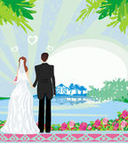 Honeymoon in the tropics. Illustration vector illustration