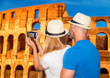 Honeymoon vacation in Rome Royalty Free Stock Images