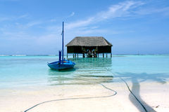Honeymoon villa on maldives Royalty Free Stock Image