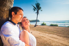 Honeymoon of young couple Royalty Free Stock Photography