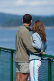 Honeymooners on the cruise Stock Images