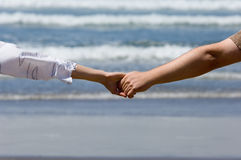 Honeymooners hands Stock Photo