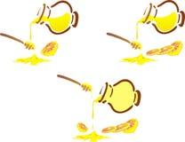 Honeypot und Zitrone Stockbilder