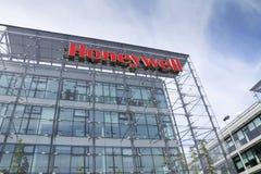 Honeywell company logo on headquarters building Royalty Free Stock Photos