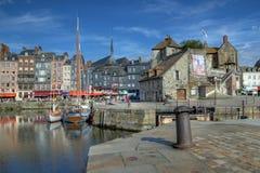 Honfleur (05), Normandië, Frankrijk Stock Foto's