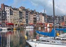 Honfleur港口在诺曼底。 法国。 免版税库存图片