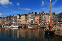 Honfleur, die französische normannische Stadt Lizenzfreie Stockbilder