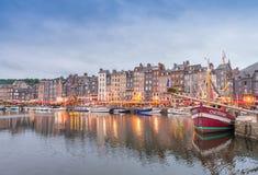 HONFLEUR, FRANCE - JUNE 17, 2014: Architectural detail of ancien Stock Images
