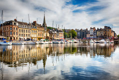 Honfleur, France. Port of Honfleur, Normandy France Royalty Free Stock Photo