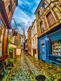 Honfleur Francja, aleja Obraz Royalty Free