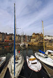 Honfleur harbor in normandy Stock Images