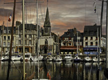 Honfleur Harbor France Stock Photo