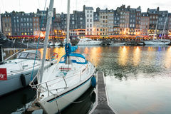 Honfleur harbor Stock Images