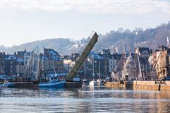 Honfleur harbour in Normandy, France Stock Images