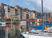 Honfleur harbour in Normandy. France. Royalty Free Stock Image