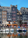 Honfleur. Houses Facade at Harbour Royalty Free Stock Image
