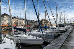 Honfleur i Normandie Frankrike Royaltyfri Fotografi