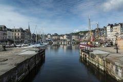 Honfleur i Normandie Frankrike Arkivbilder