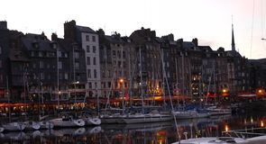 Honfleur, Normandy, France early evening. Royalty Free Stock Photos