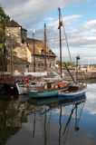 Honfleur reflections stock photos
