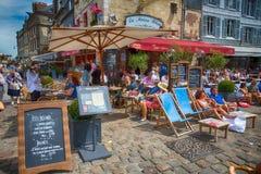 Honfleur Restaurant, Normandy, France. Royalty Free Stock Image