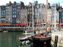 Honfleur's haven in Normandie,. France Royalty Free Stock Images
