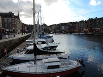 Honfleur's haven in Normandie,. France Stock Photo