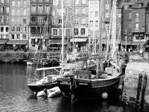 Honfleur's haven in Normandie,. France Royalty Free Stock Photos