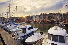 Honfleur at sunset Royalty Free Stock Photo