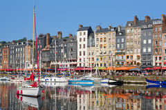 Honfleur yachts at the harbour Royalty Free Stock Photos