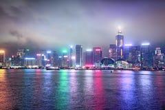 Hong τη νύχτα Στοκ Εικόνες