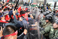 hong anty kong protestuje wto obraz royalty free