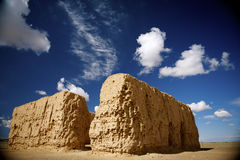 Hong city ruins. DATONG city is an ancient Silk Road, the most complete, the scale of the most ambitious of the ruins of an ancient city.black city built in the Royalty Free Stock Images