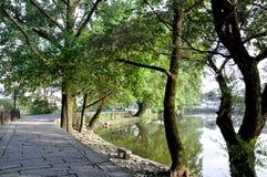 Hong Cun bevattnar den gammala byn townen Royaltyfri Bild