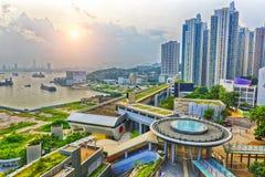 Hong Hong Public Estate Sunset Stockbilder